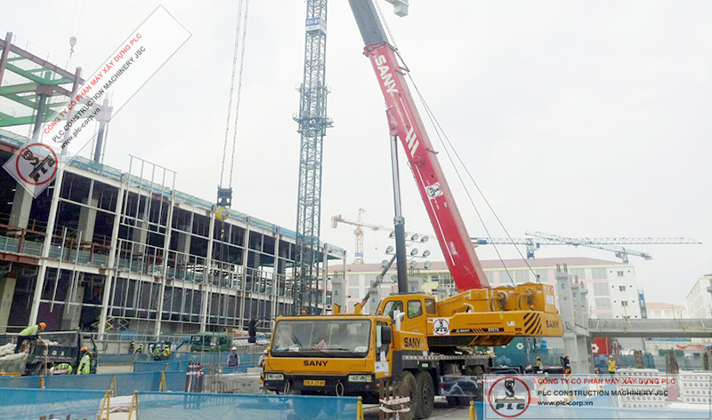 Sany STC750 Mobile Cranes Rental In Vietnam