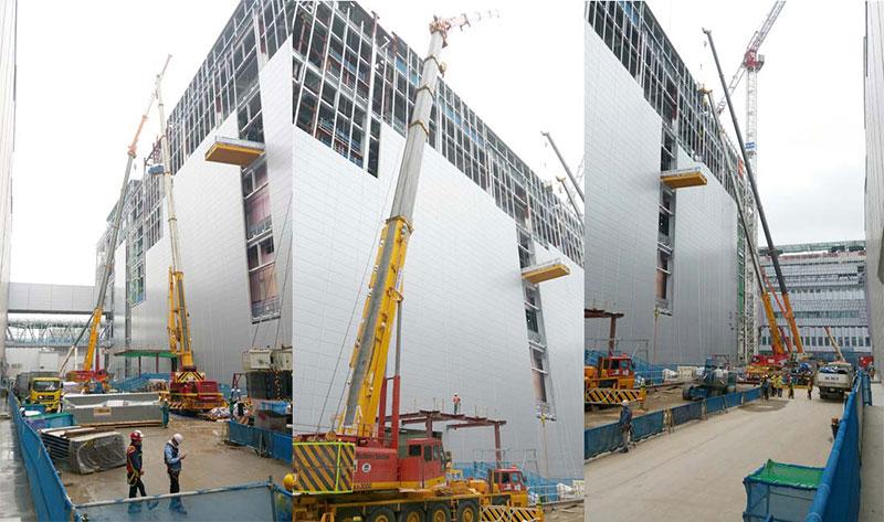 Cho thuê cẩu tại Bắc Ninh dự án V3 Samsung
