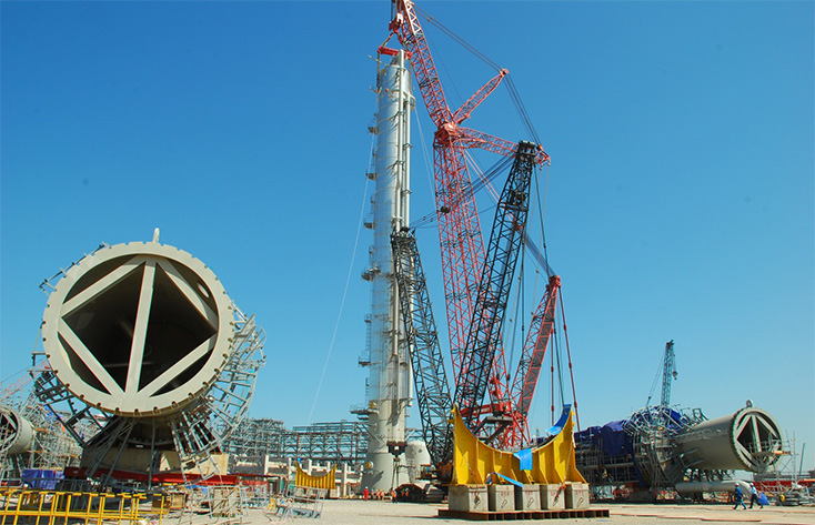 Cho thuê cẩu tại Thanh Hóa Dự án nhà máy lọc dầu Nghi Sơn