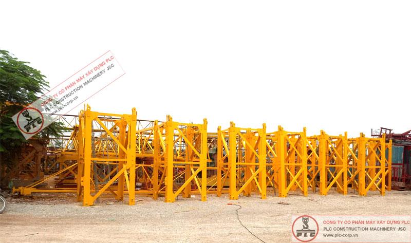 Bảo dưỡng trước khi cho thuê cẩu tháp 10 tấn hiệu Liftec LTT6016-10A