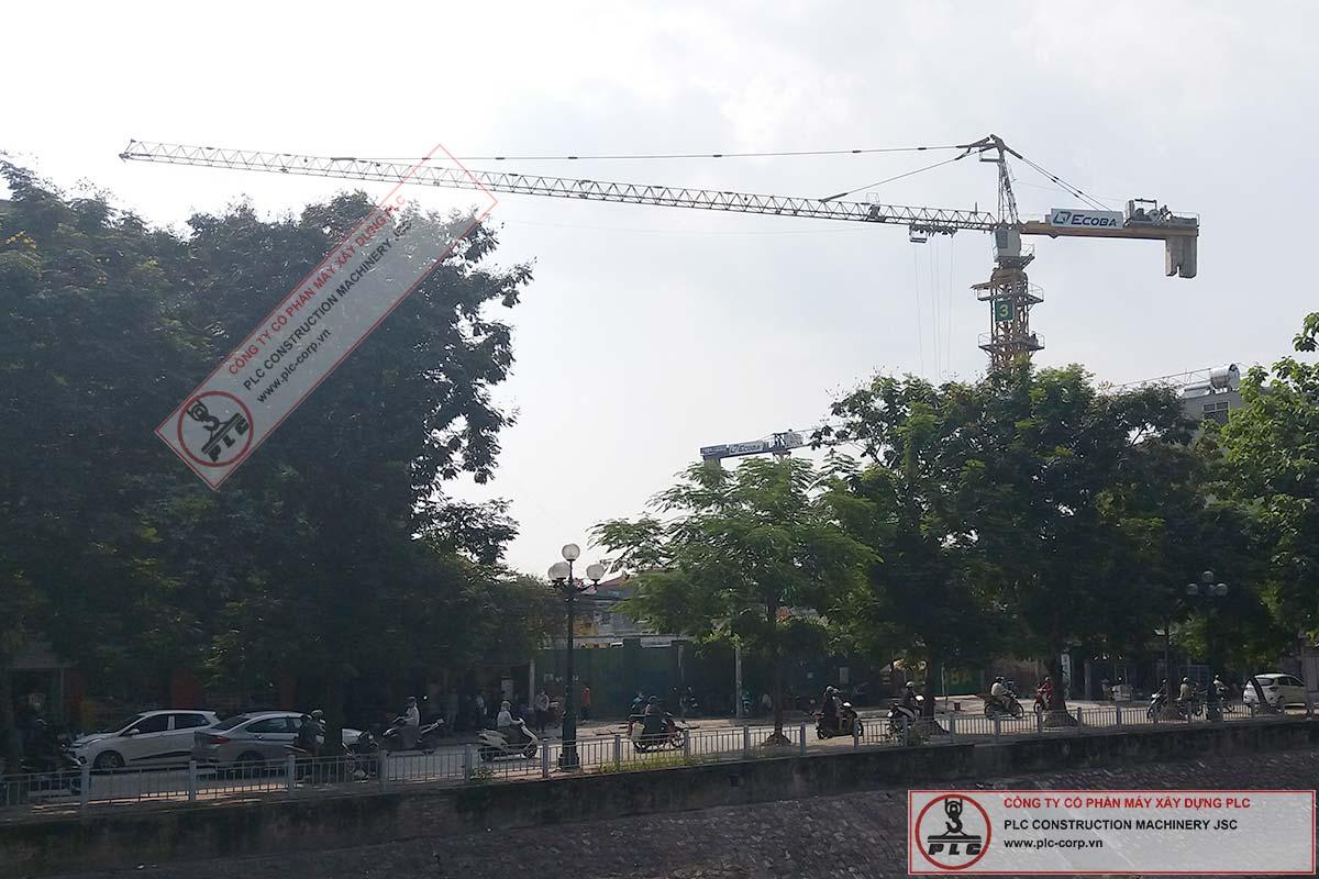 Cho thuê cẩu tháp 10 tấn SCM C6018 tại Dự án 201 Minh Khai Hà Nội
