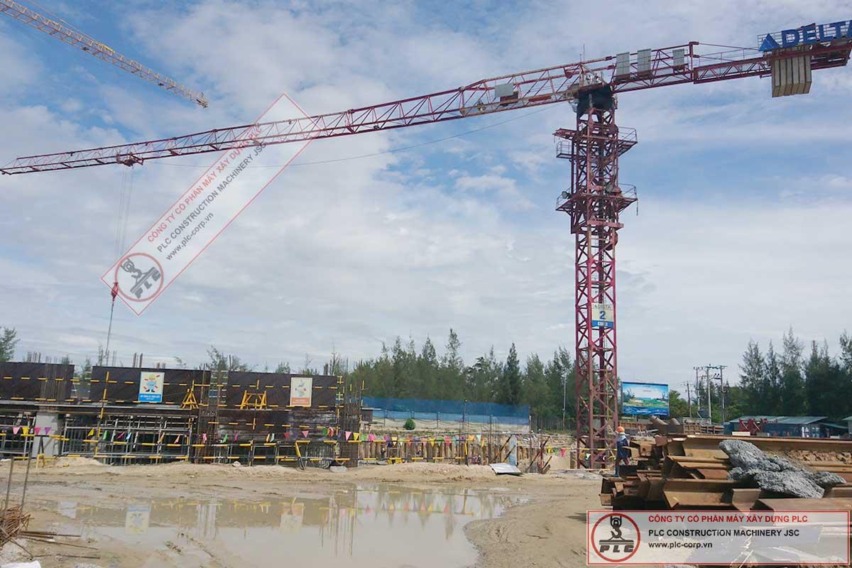 Cho thuê cẩu tháp 10 tấn Motocat MCT6021 tại Cocobay Đà Nẵng