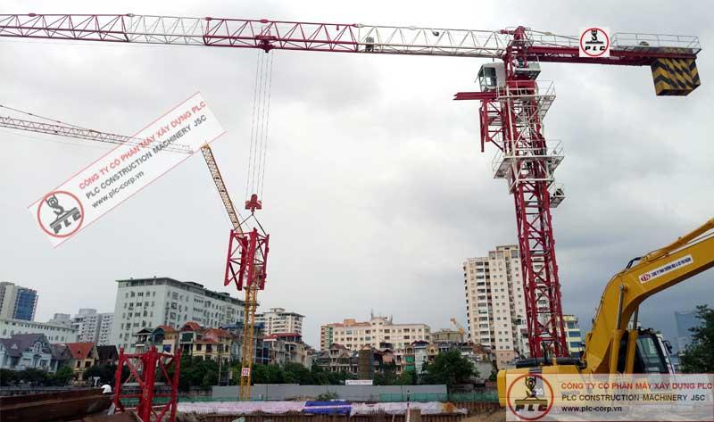 Cho thuê cẩu tháp 8 tấn 6015 qtz uy tín, chuyên nghiệp