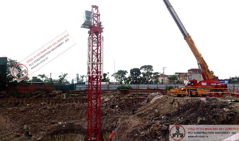 Cho thuê cẩu tháp 8 tấn QTZ đầu bằng hàng mới