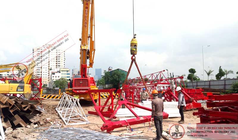 Cho thuê cẩu tháp 8 tấn QTZ6015 mới, chuyên nghiệp