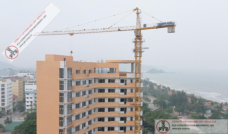 Cho Thuê Cẩu Tháp 6 Tấn Zoomlion 5013 Tại Thành Phố Vinh, Nghệ An