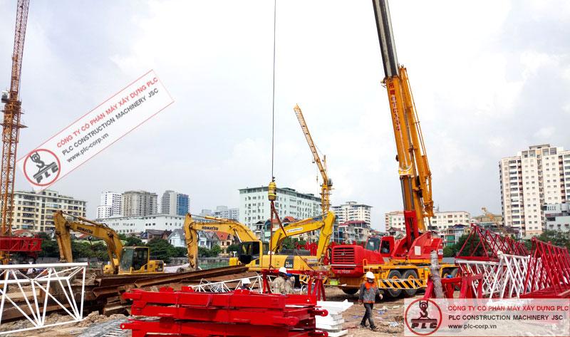 cho thuê cẩu lốp 70 tấn kato phục vụ xây dựng, lắp đặt kết cấu