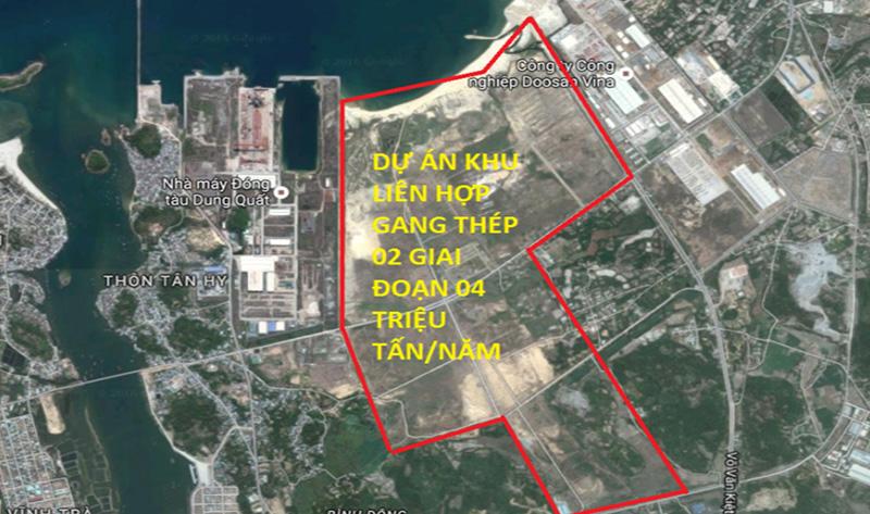 Cho Thuê Cẩu Dự án Nhà Máy Thép Hòa Phát Dung Quất