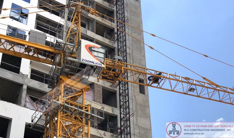 Cho thuê cẩu tháp zoomlion 8 tấn đời mới chạy biến tần