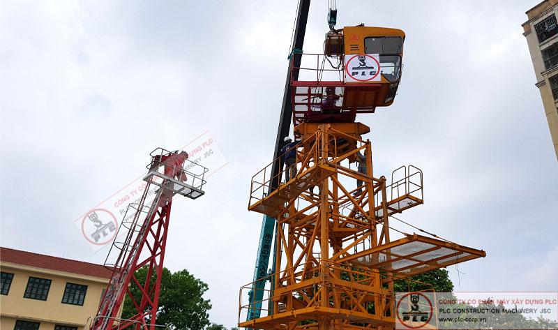 cho thuê cẩu tháp 8 tấn sanny t6515