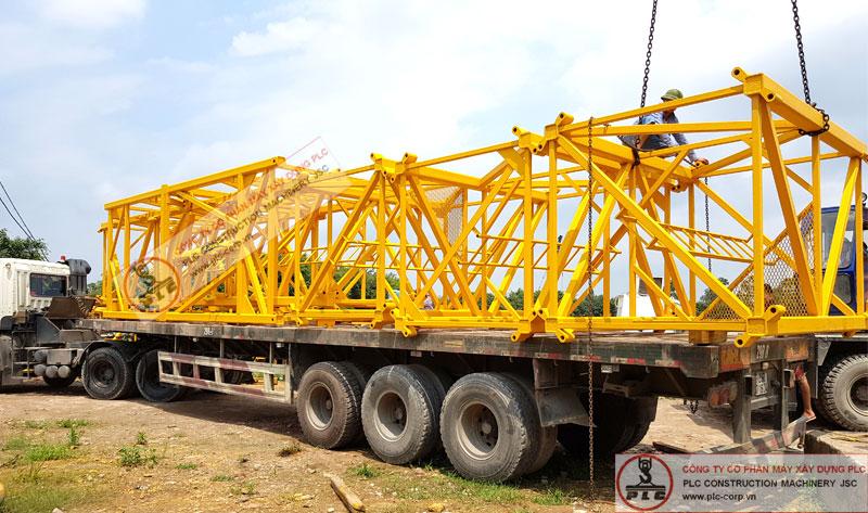 Cho thuê đốt cẩu tháp 10 tấn QTZ tại kho bãi PLC - Hà Nội