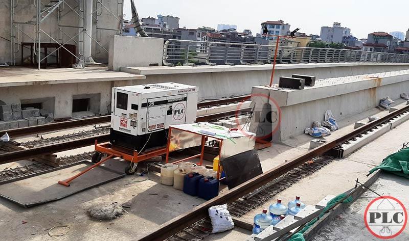 Cho thue may phat dien tai du an Metro Ha Noi
